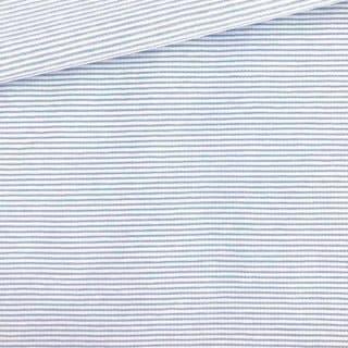 Single Jersey - Weiß mit kleinen zartblauen Streifen