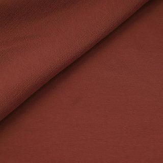 French Terry - dünner Sweatshirtstoff - Dusty Rost Orange