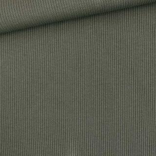 Rippenjersey - Schlauchware - Dunkles Khaki
