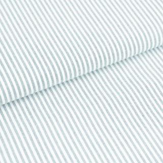 Baumwollstoff - Altmint/ Weiß 3 mm Streifen