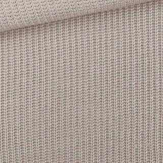 Baumwoll-Grobstrickstoff - Beige