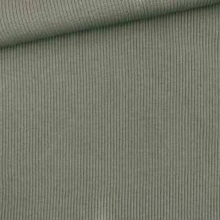 Rippenjersey - Olivgrün