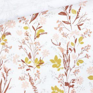 Single Jersey - Ecru Flower Whisper