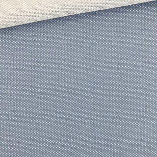 Jaquard Jersey - Zartes Graublau Mini Punkte