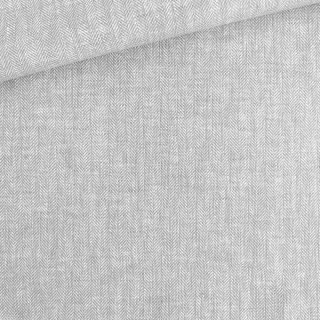 Leinen-Baumwollgemisch - Fischgrat Helles Silbergrau