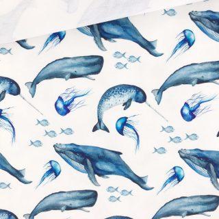 Single Jersey - Wale Cremeweiß