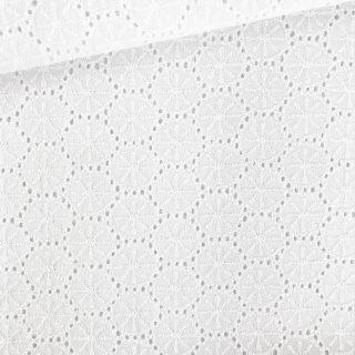 Baumwolle Kreise Lochstickerei - Weiß
