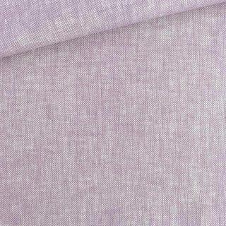 Leinen-Baumwollgemisch - Fischgrat Lavendel