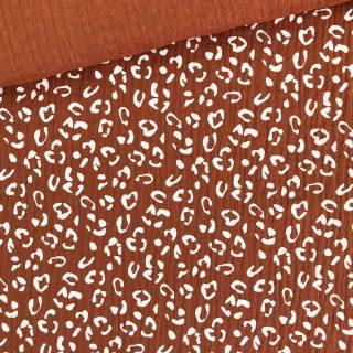 Musselin - Rost-Orange Leo/Weiß