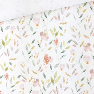 Single Jersey - Spring Bloom Cremeweiß