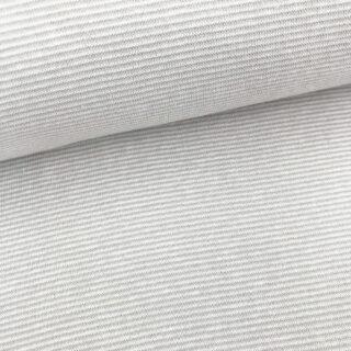 Bündchen - Sand Beige/ Weiß 1 mm gestreift
