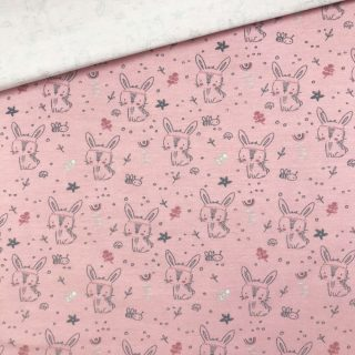 Single Jersey - Rose Rabbits