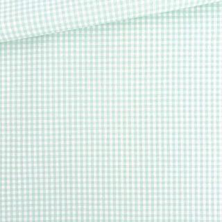 Baumwollstoff - Mint/ Weiß 3 mm kariert