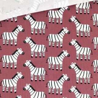 Bio Single Jersey - Zebras Dunkles Zimt Beere