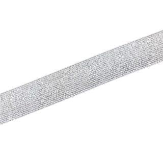 Gummiband Weiß Silber - 30 mm