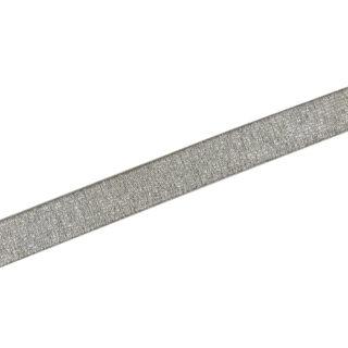 Gummiband Smoky Beige Silber - 20 mm