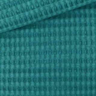 XL Waffelpique - Dunkle Jade