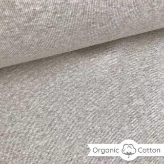 Bündchen gerippt - Helles Smoky Beige meliert - ORGANIC